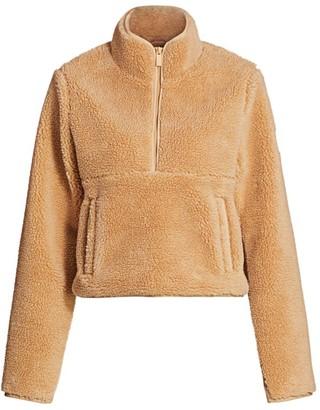 Alo Yoga Shanti Half-Zip Fleece Sweatshirt