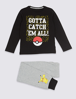 Marks and Spencer Pure Cotton Pokemon Pyjamas (5-14 Years)