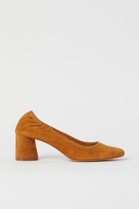 H&M Suede court shoes