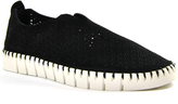 Jeffrey Campbell Tiles - Perforated Suede Slip-On Sneaker