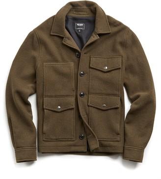 Todd Snyder Wool Cruiser Jacket in Olive