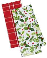 "DII Cotton Christmas Holiday Dish Towels, 18x28"" Set of 2, Decorative Oversized Kitchen Towels, and Kitchen Gift-Merry Boughs of Holly"