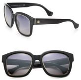 Balenciaga 52MM Square Acetate & Metal Sunglasses