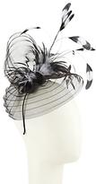 John Lewis Toni Crinkle Crin Feather Fascinator, Black