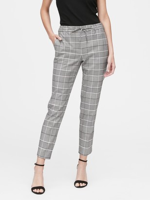 Banana Republic Hayden Tapered-Fit Plaid Ankle Pant