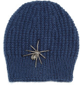 Jennifer Behr Crystal Spider Knit Beanie Hat