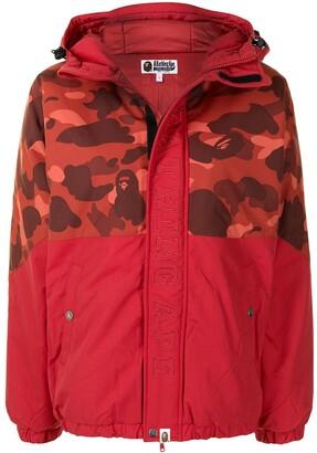 A Bathing Ape Camouflage-Print Puffer Jacket
