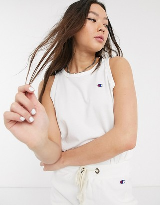 Champion reverse weave logo cropped tank top co-ord