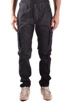 Stone Island Men's Black Cotton Pants.