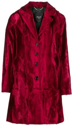Paltò single-breasted velvet coat