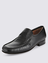 Collezione Leather Textured Loafers