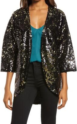 Chelsea28 Sequin Shrug Jacket