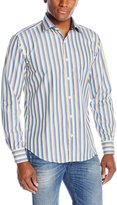 Bugatchi Men's Damiano Long Sleeve Shaped Button Down Shirt