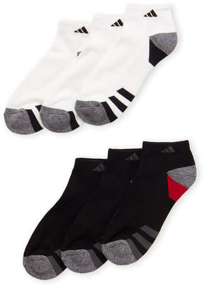 adidas 6-Pack 3-Stripe Low Cut Socks