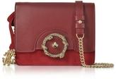 Roberto Cavalli Crimson Leather and Suede Small Shoulder Bag
