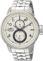 Invicta Men's 'S1 Rally' Quartz Stainless Steel Casual Watch, Color: Silver-Toned (Model: 23058)