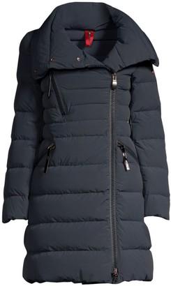 Post Card Zip Detail Puffer Coat