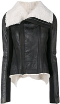 Rick Owens shearling lined jacket - women - Calf Leather/Cupro - 44