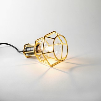 Design House Stockholm Gold Table Desk or Pendant Modern Work Lamp - With Bulb - Gold Plated - Gold