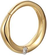 Pamela Love 8mm Floating White Diamond Clicker Single Hoop Earring - Yellow Gold