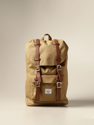 Herschel Canvas Backpack With Double Buckles
