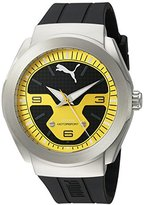 Puma Quartz Stainless Steel and Polyurethane Automatic Watch, Color:Black (Model: PU103931003)