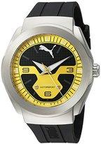 Puma Quartz Stainless Steel and Polyurethane Watch, Color:Black (Model: PU103931003)