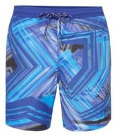 Hugo Boss Rockfish Quick Dry Swim Trunks L Open Blue