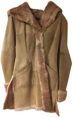 Guy Laroche Beige Shearling Coats