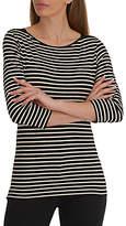 Betty Barclay Striped T-Shirt, Black/Natural