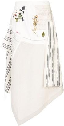 Monse Patchwork Asymmetric Skirt