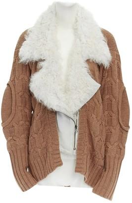 Preen Camel Suede Knitwear for Women
