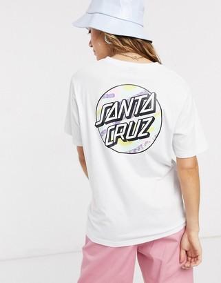 Santa Cruz Primary Dot t-shirt with back print in white