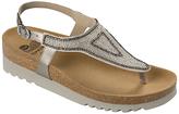 Scholl Aida Beaded Toe Post Sandals, Metallic