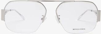Bottega Veneta Metal Aviator Glasses - Silver