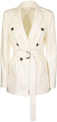 Brunello Cucinelli Water-resistant Wool And Cashmere Flannel Blazer With Monili Blazer