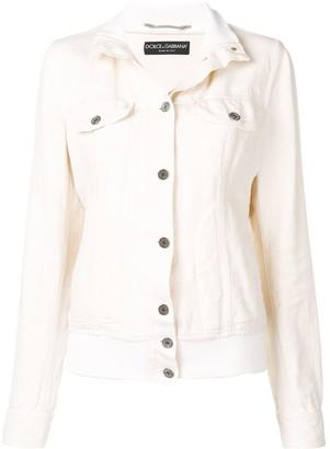 Dolce & Gabbana Pre-Owned 1990's Ribbed Neck Denim Jacket
