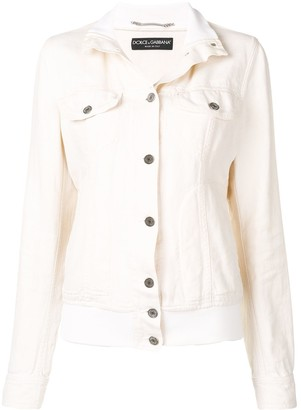 Dolce & Gabbana Pre Owned 1990's Ribbed Neck Denim Jacket