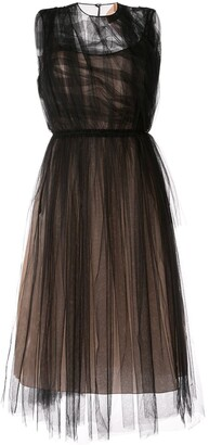 No.21 Ruffled Tulle Dress