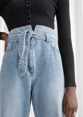 And other stories Tapered Belted Jeans
