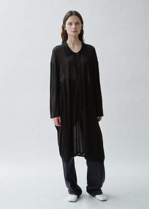 Maison Margiela Gauge 18 Silk Jersey Polo Dress