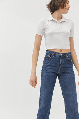 Urban Outfitters Rolo Collared Cropped Polo Tee