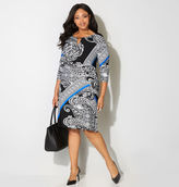 Avenue Paisley Keyhole Sheath Dress