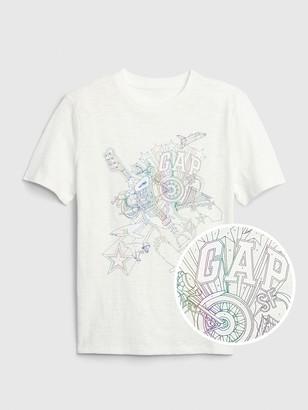 Gap Kids Interactive Graphic T-Shirt