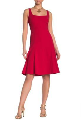 Calvin Klein Square Neck Sleeveless Fit & Flare Dress