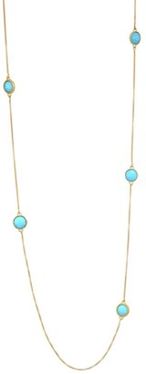 Dean Davidson 22K Goldplated & Turquoise Charm Long Necklace