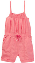 Joe Fresh Linen Blend Smocked Romper (Toddler & Little Girls)