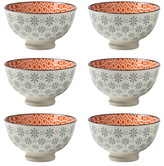 "Torre & Tagus Kiri Porcelain 6"" Medium Bowl (Set of 6)l"