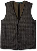 Perry Ellis Men's Big and Tall, Jacquard Party Vest