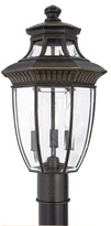 Bed Bath & Beyond Georgetown 3 Light Outdoor Fixture With Imperial Bronze Finish and Beveled Glass